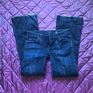 7 for All Mankind worn in jeans